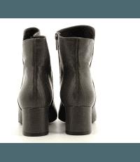 Bottines à talon moyen en cuir façon lézard gris Garrice Sélection - 6138G
