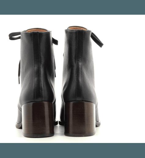 Bottines à lacets en cuir noir Chie Mihara - OR-ORMAST NEGRO