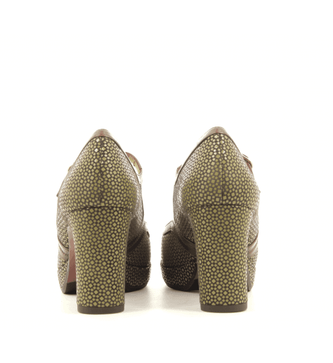 Escarpins à talons en cuir vert Chie Mihara - JOLY