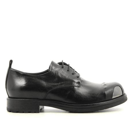 Derbies en cuir noir garrice fru.it - 5612