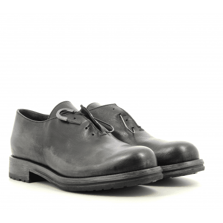 Derbies en cuir noir garrice fru.it - 5613
