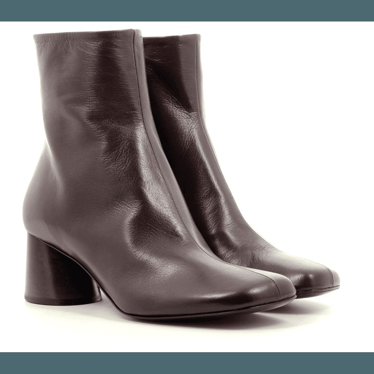 Bottines  en cuir bordeaux Halmanera - ODILE02