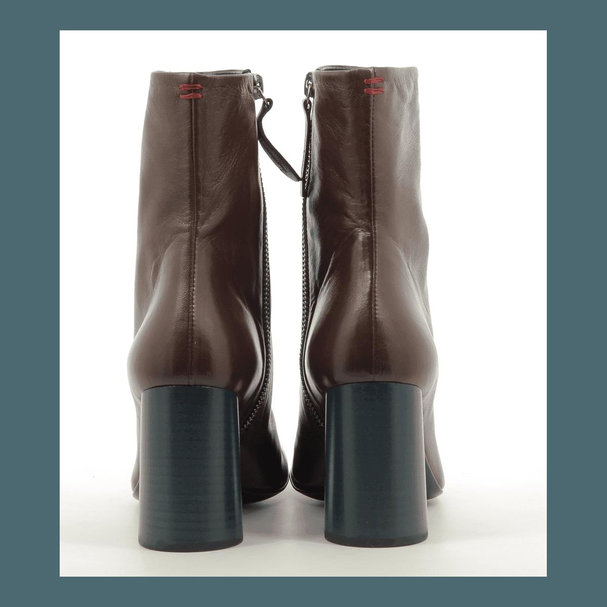 Bottines  en cuir cognac Halmanera - ORIETT02