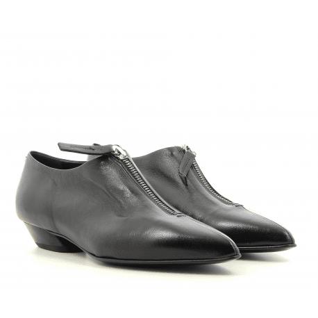 Chaussures pointues en cuir noir Halmanera - ZILLY13