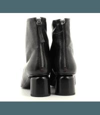 Bottines  en cuir noires Halmanera - ANYA04
