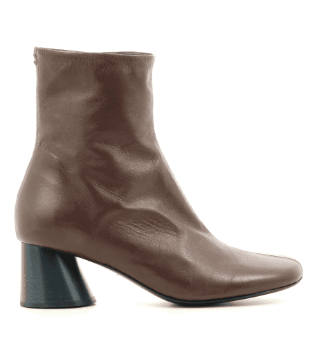 Bottines  en cuir marron Halmanera - ODILE02M