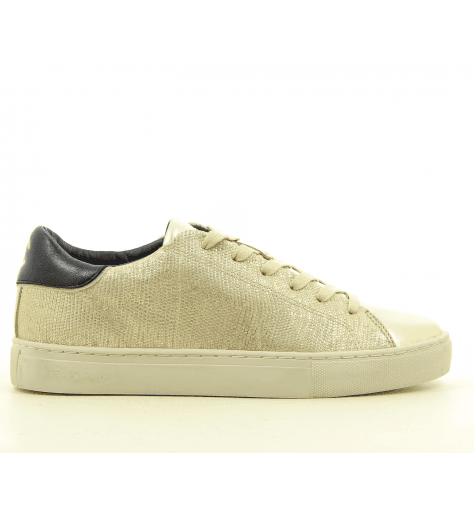 Sneakers  en cuir platine  Crime London - BEAT 25723