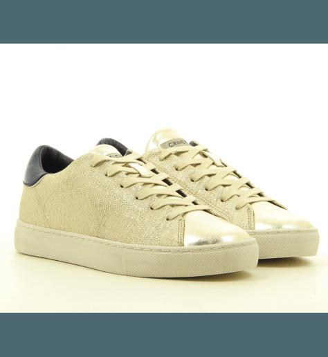 Sneakers  en cuir platine  Crime London - BEAT 25723