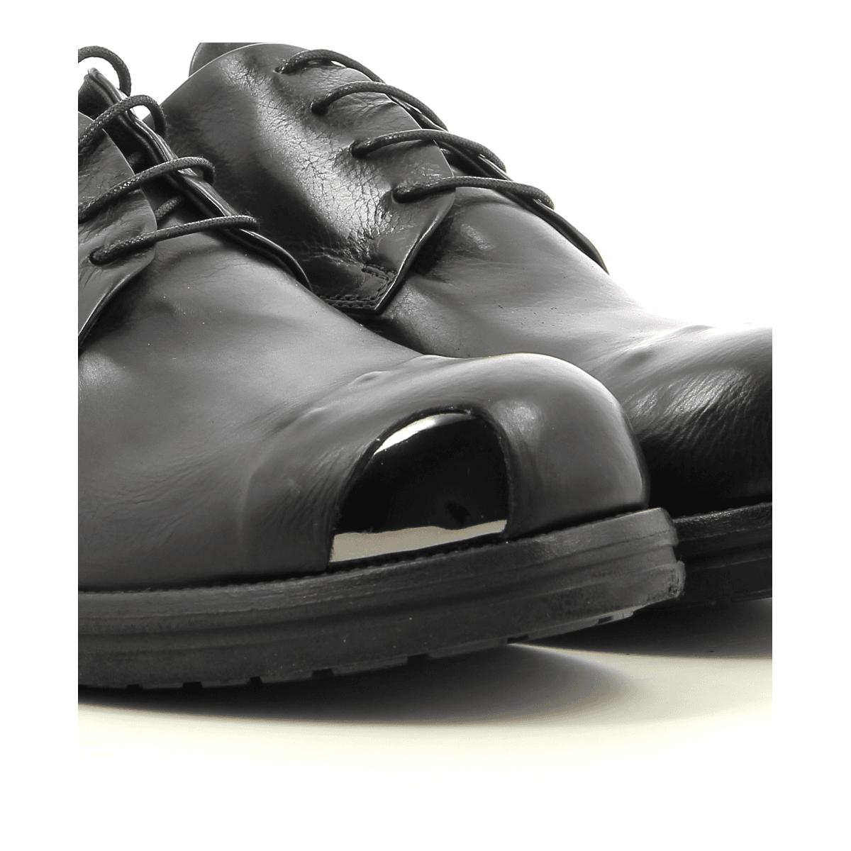 Derbies en cuir noir Sélection Garrice - 5612