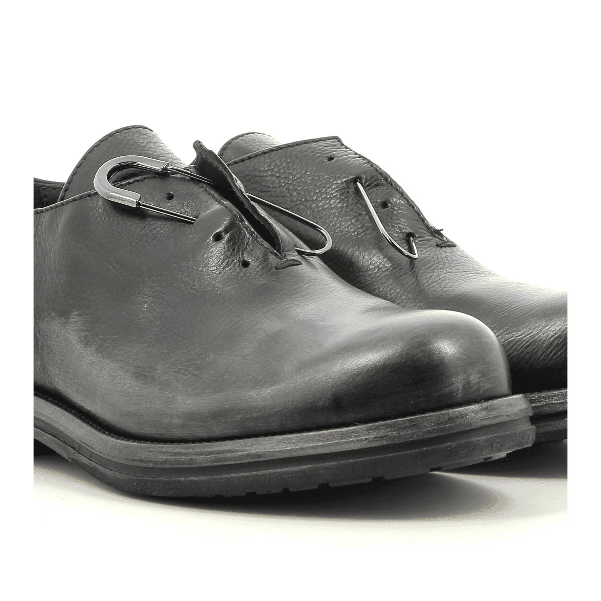 Derbies en cuir noir Garrice Collection - 5613