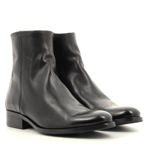Bottines plates en cuir noir Paul Smith - ADALIA BLACK