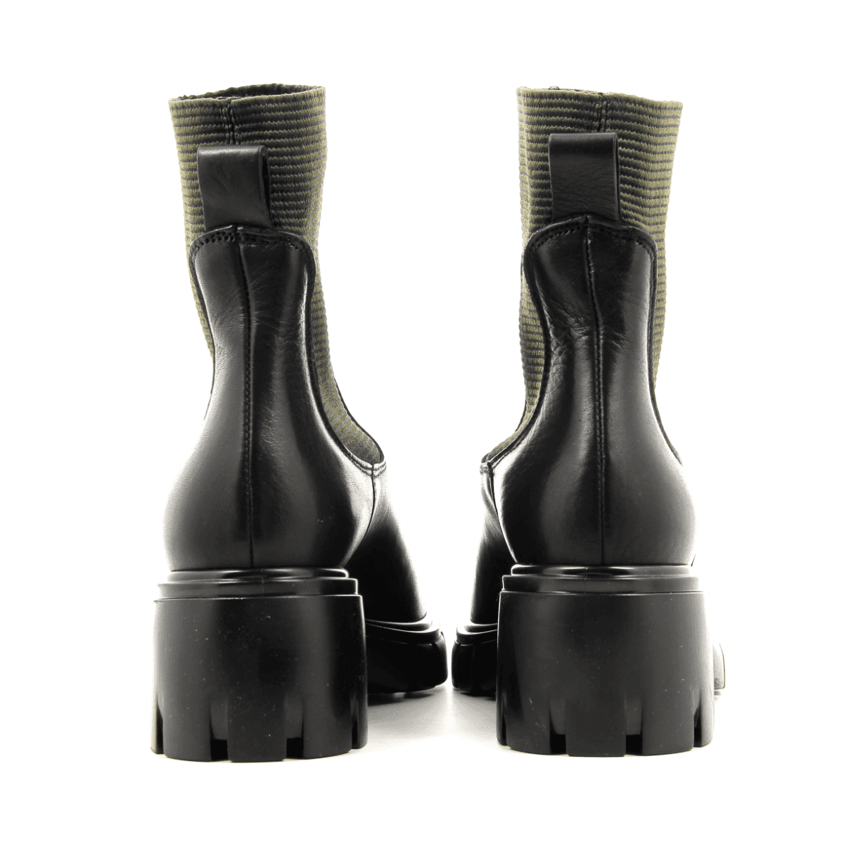 Bottines en cuir noir Sélection Garrice collection - 5680
