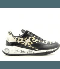 Baskets en textile et cuir leopard Premiata - SCARLETT 4166