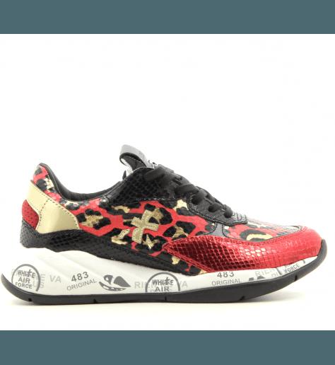Baskets en cuir léopard rouge Premiata - SCARLETT 4165