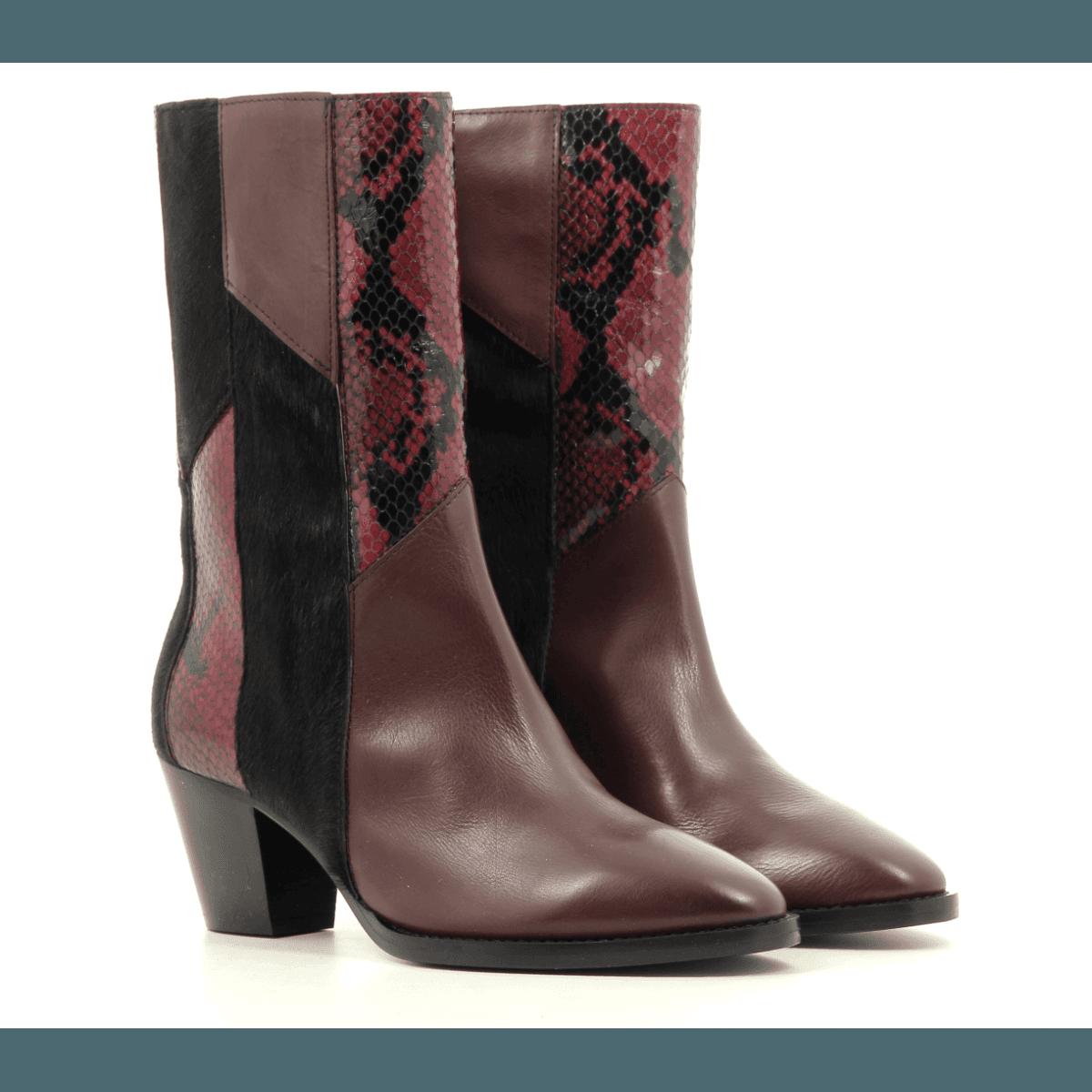 Bottines en cuir noir Sélection Garrice collection - AI09052B