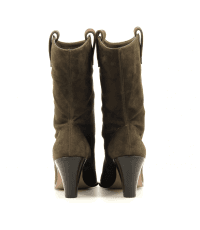 Bottines en suede kaki et tige ample Aquazzura - BOOGIE COWBOY BOOTIE70