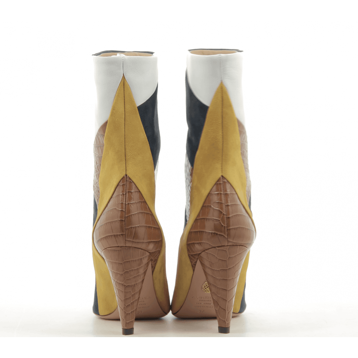 Bottines en patchwork de cuir et tige ample Aquazzura - CALDER BOOTIE85