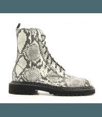 Bottines à lacets et semelle crantée en reptile Vic Matie - 7854D