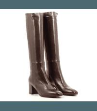 Bottes à talons en cuir marron Garrice Collection - W205919C