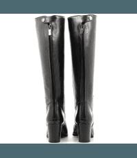 Bottes à talons en cuir noir Alberto Fasciani - YARA 54052