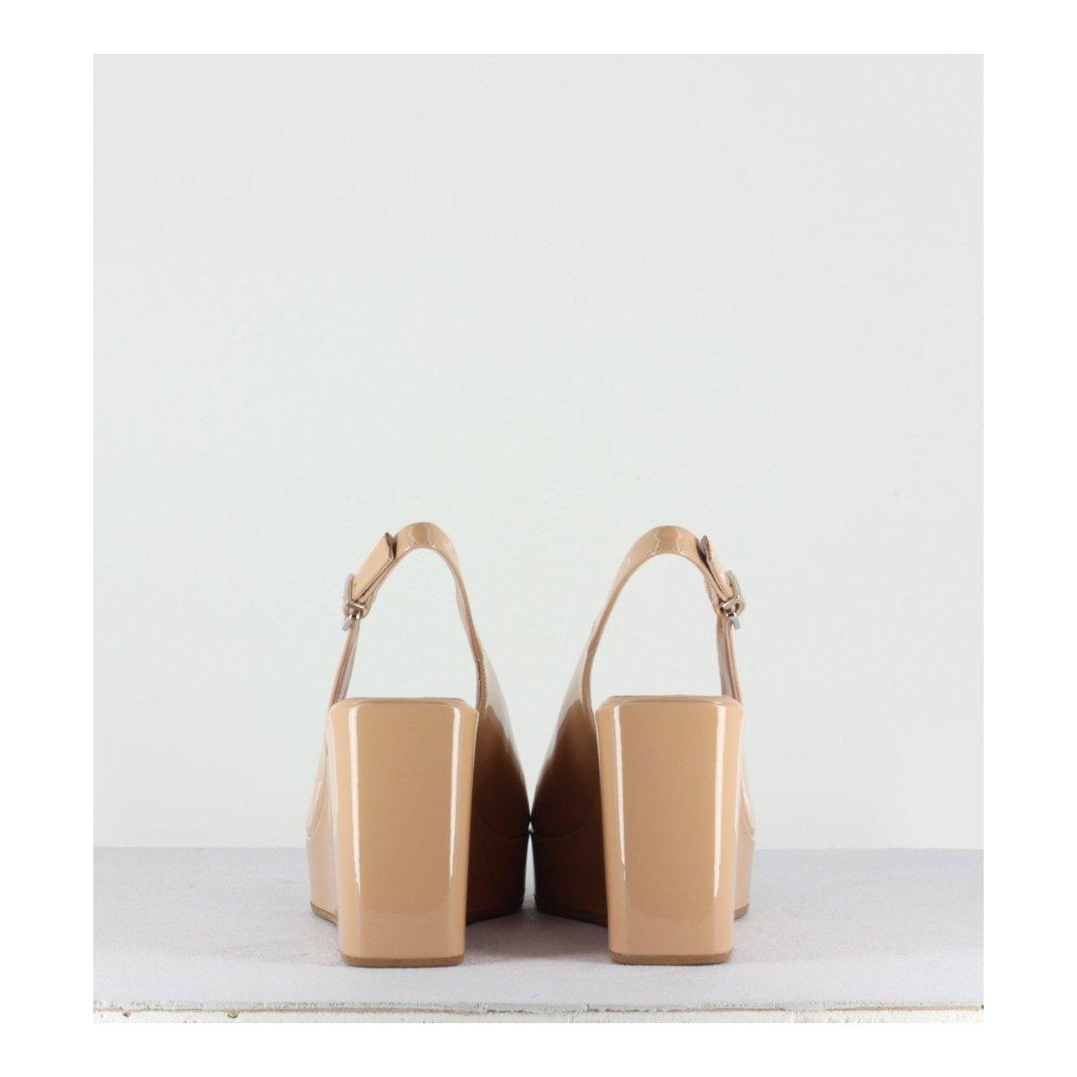 Sandales compensées nude Garrice Lab - 2020 NUDE