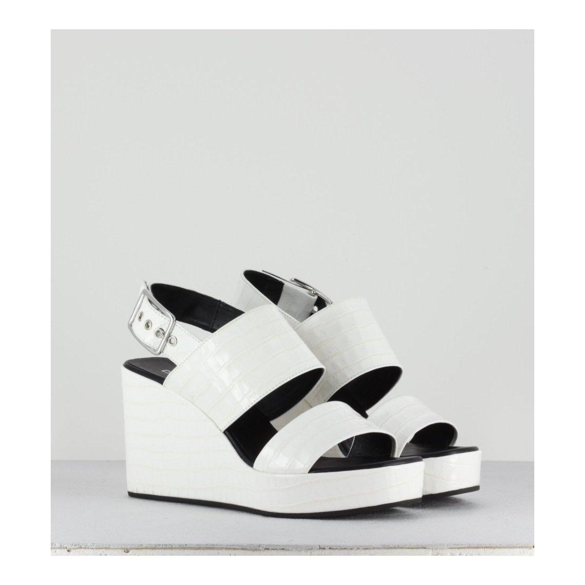 Sandales compensées blanches Garrice Lab -2024 BIANCO
