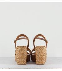 Sandales compensées camel Garrice Lab - 2034 CAMEL