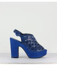 Sandales plates-formes bleues Garrice Lab - 2879 BLUE