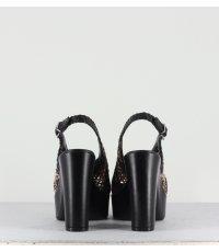 Sandales plates-formes noires Garrice Lab - 2902 BLACK