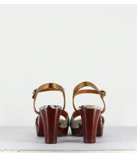 Sandales en cuir imprimé serpent  - Elodea snake