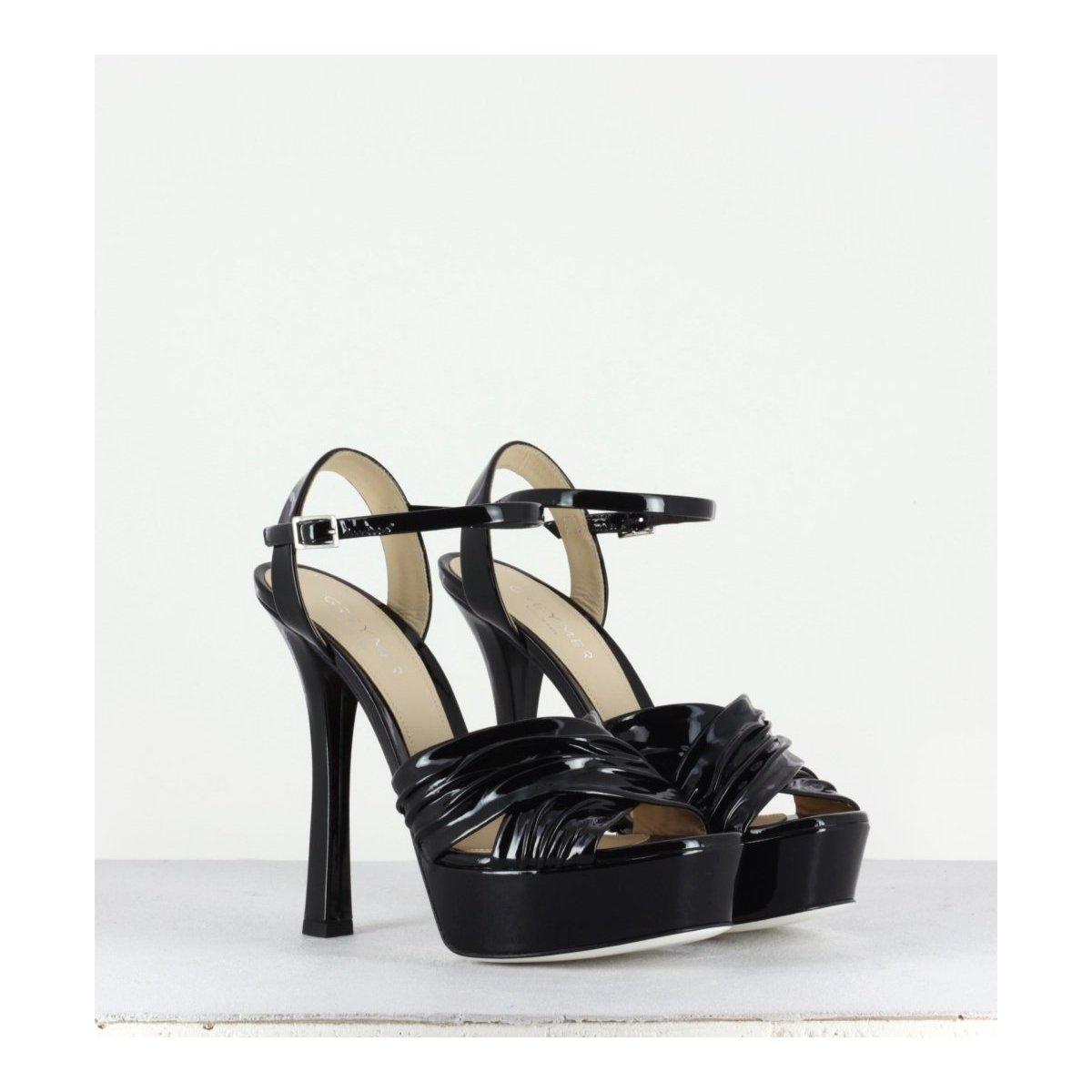 Sandales à talon avec plateforme - Lia liquid black