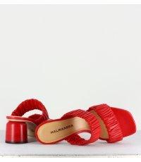 Mules rouges à petit talon cylindrique - Giada08