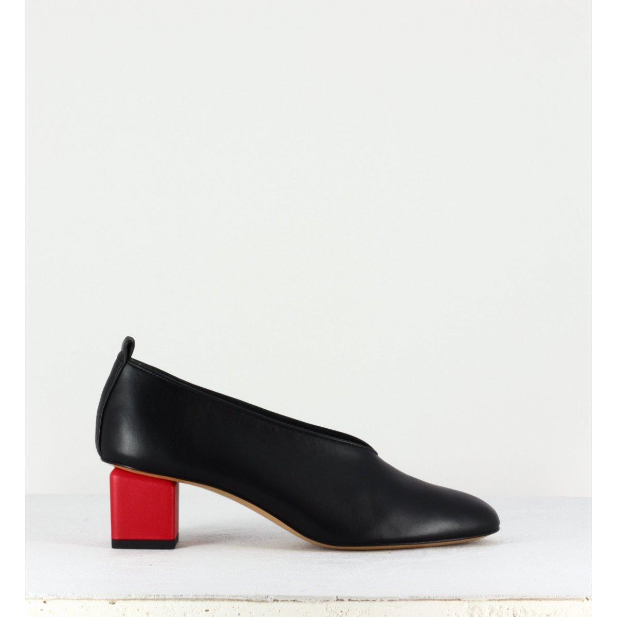Escarpins en cuir noir à petit talon - Mildred Classic nero