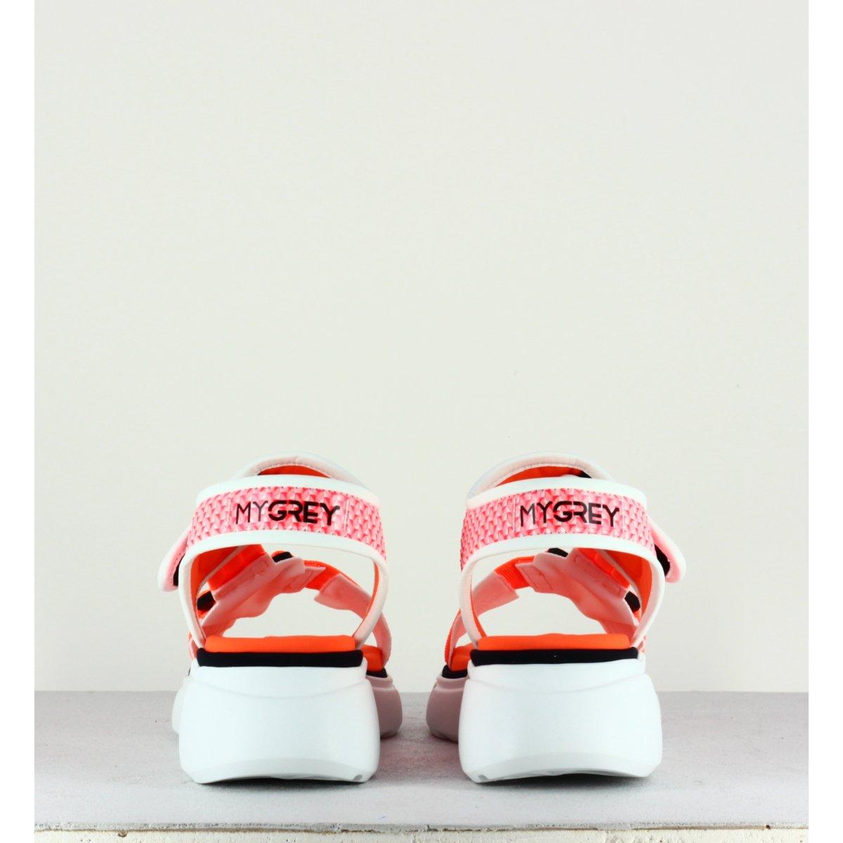 Sandales oranges à semelle épaisse - Mars Roller Pink