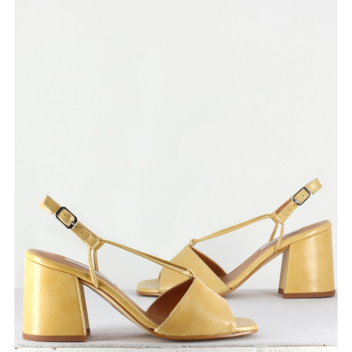 Sandales en cuir jaune - Sarah sand