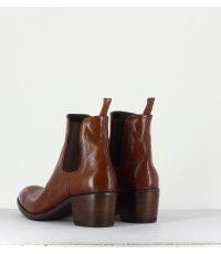 Bottines talons bottier en cuir cognac ALBERTO FASCIANI - Nicol31067C1