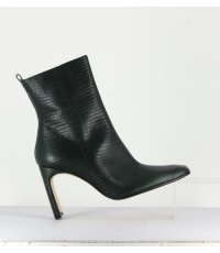 MARCELLE BOTTLE GREEN LEATHER BOOTS - MIISTA