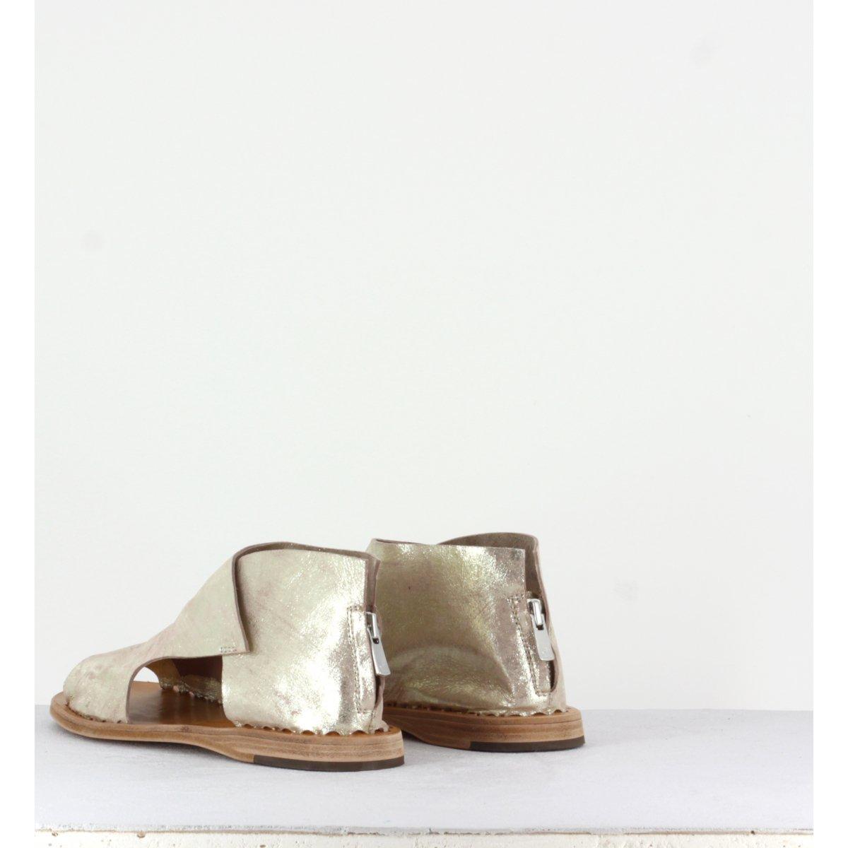 Sandales plates dorées - Itaca 018 Platino