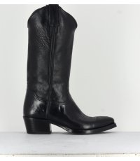 Bottines santiag en croute cognac 199- Garrice Collection