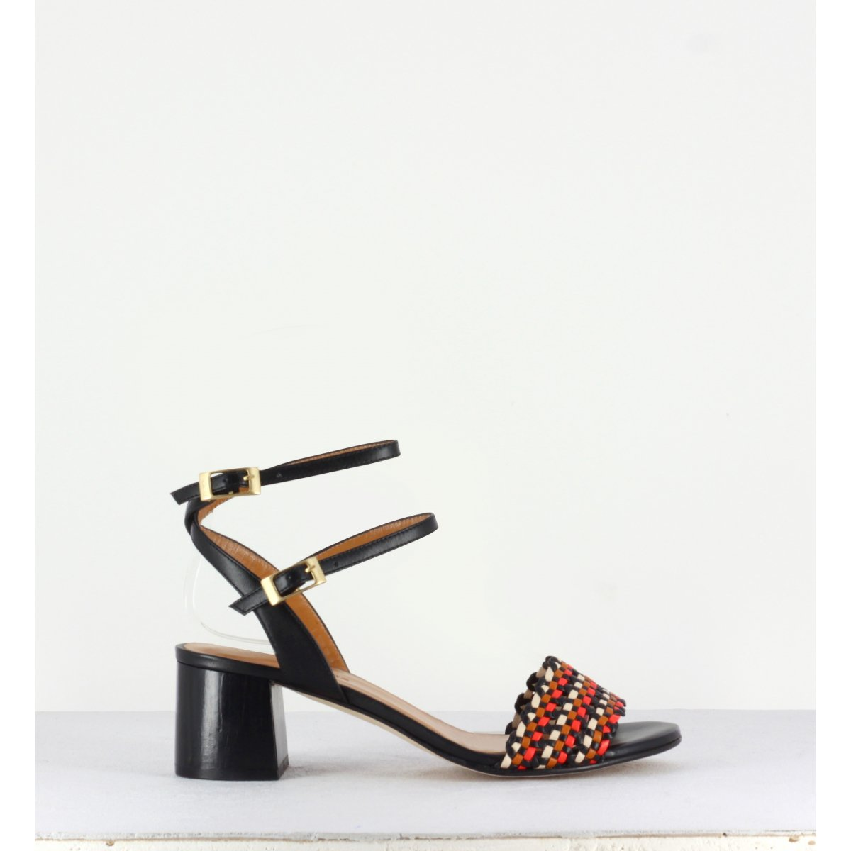 MAY BLACK WOVEN SANDAL