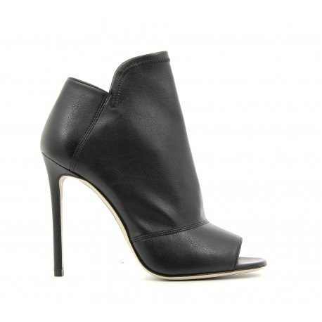 Bottines open-toe à talons noirs  - GreyMer