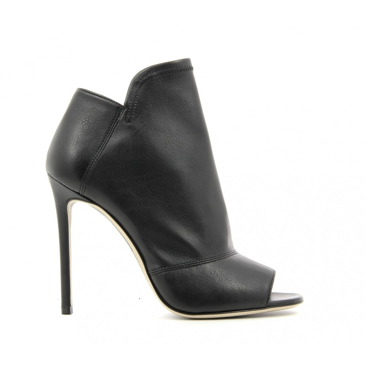 Bottines open-toe à talons noirs  - GreyMer