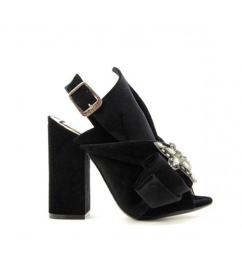 Sandales noeuds à talons noires - N°21 Numero Ventuno