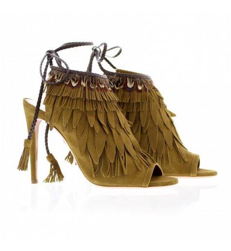 Sandales a talons avec franges Pocahontas105 -Aquazzura