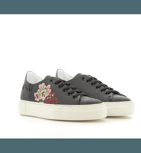Sneakers en cuir noir - Fiamme
