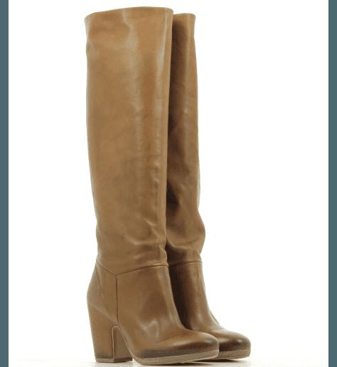 Botte en cuir camel Vic Matié - 7456D