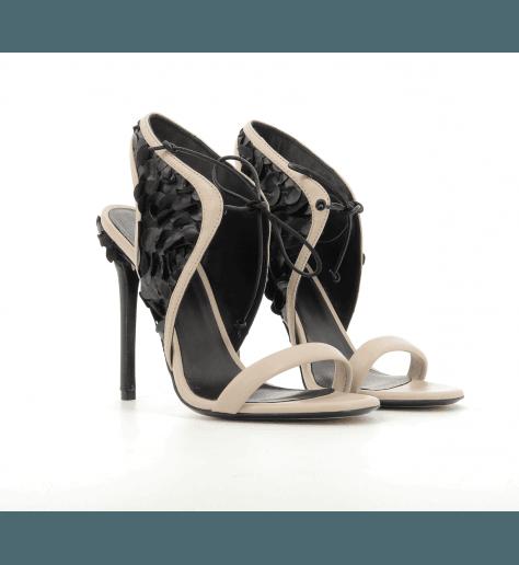 Sandales à talons rose et noir 703 - Grey Mer