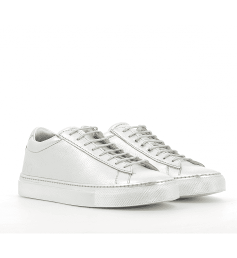 Sneakers plates cuir argent 003AR- Primaforma