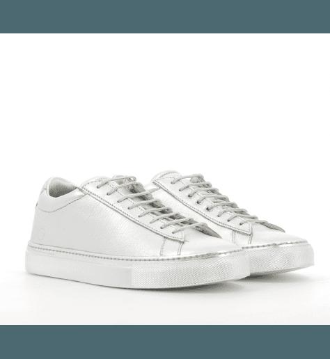 Sneakers plates cuir argent 003AR- Primaforma