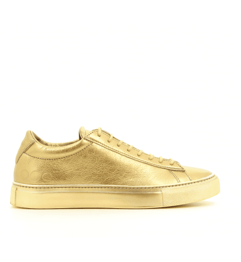 Sneakers plates cuir argent 003OR- Primaforma